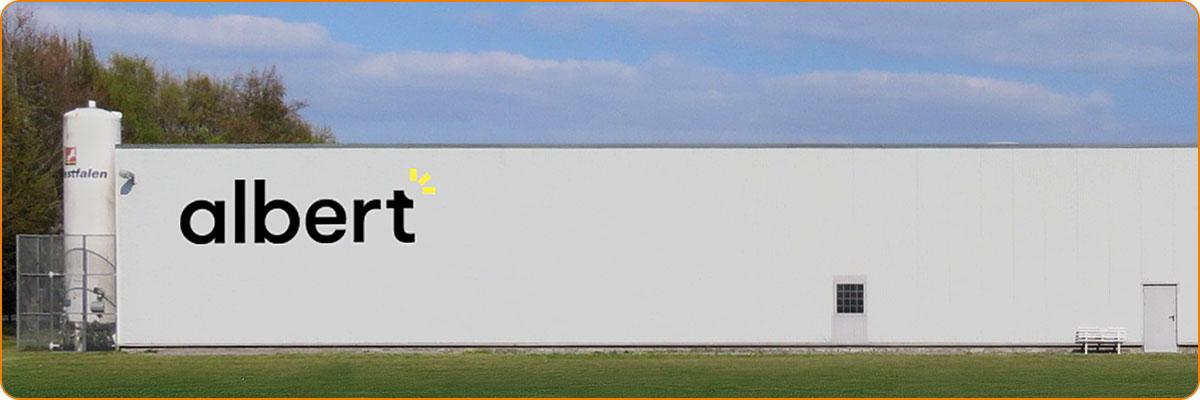 Gebr. Albert - Profilbuchstabenanlage Tagansicht